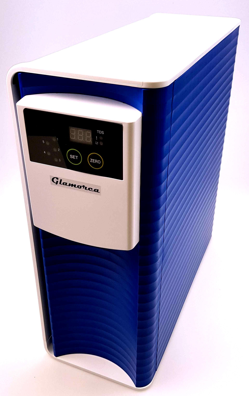 Frontansicht mitLED Filterwechselanzeige und TDS-Meter